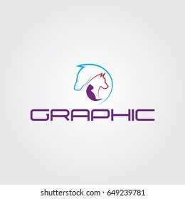 Creative logo design and Unique symbol with horse,dog and cat.