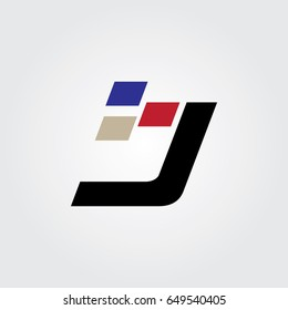 Creative logo design and Unique symbol with digital j.