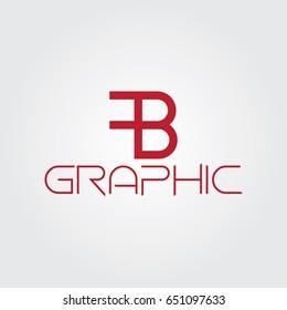 Creative logo design and Unique symbol with f and b.