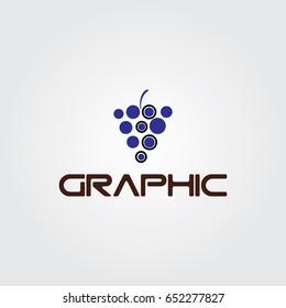 Creative logo design and Unique symbol with grapes.