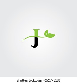 Creative logo design and Unique symbol with leafs and j.