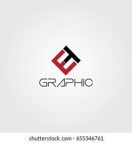 Creative logo design and Unique symbol with e and t.