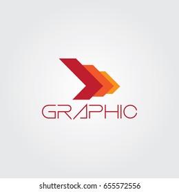 Creative logo design and Unique symbol with arrows.
