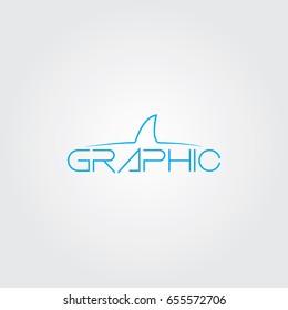 Creative logo design and Unique symbol with shark.