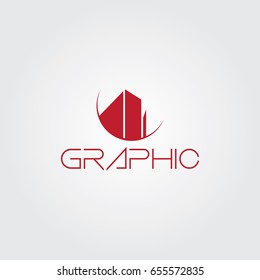 Creative logo design and Unique symbol with buildings.