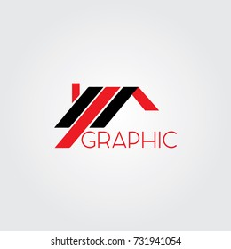 Creative logo design and Unique symbol with house.