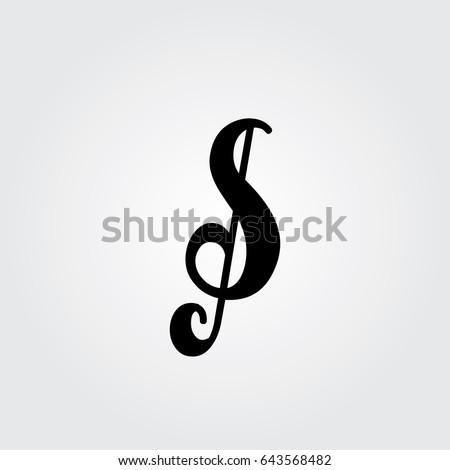 Creative Logo Design Unique Symbol Music Stockvector Rechtenvrij