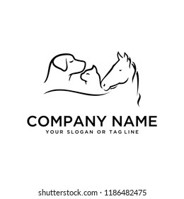 creative logo designHorse, Dog, Cat vector template