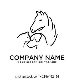 creative logo designHorse, Dog, Cat vector template