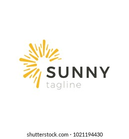 Creative logo isolated abstract shape orange color. Sun logotype vector illustration. Trendy cosmetics or beauty saloon emblem design.