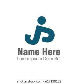 creative logo letter JP element  template design