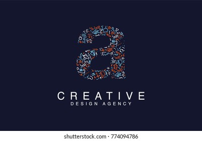 Creative logo of letter A lowercase Vector