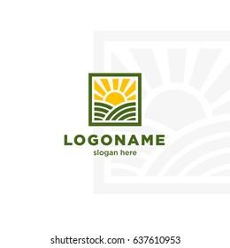 Creative logo template. Ecofarm logo