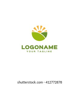 Creative logo template. Farm logo
