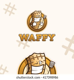 Creative logo template. Waffles mascot logo