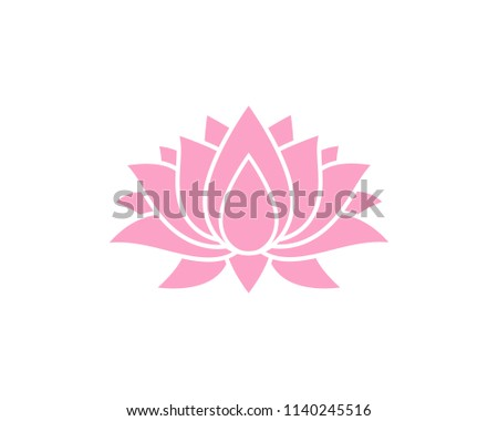 creative lotus flower logo template stock vector royalty free