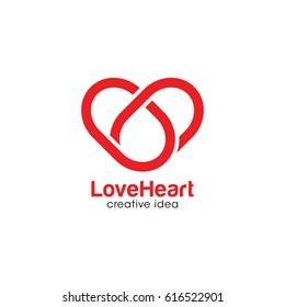 Creative Love Concept Logo Design Template