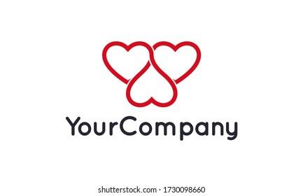 Creative love for logo design vector editable