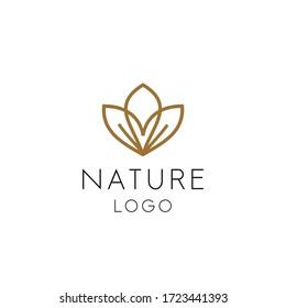 creative luxury cosmetic logo nature