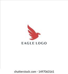Creative luxury Eagle logo design vector