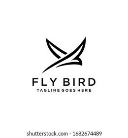 Creative luxury modern bird logo template vector icon
