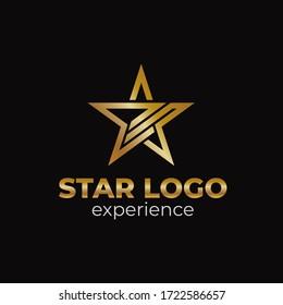 The creative luxury of star logo designs template, Elegant Star logo designs