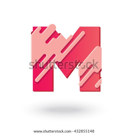 7fd796315d3 Creative M Letter design vector template. Abstract Editable Colorful  Alphabet. Type Characters Logotype symbols