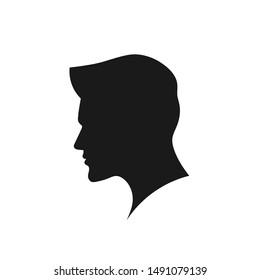 creative man silhouette head vector concept