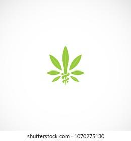 Creative marijuana health medical cannabis vector designs