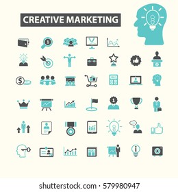 creative marketing icons