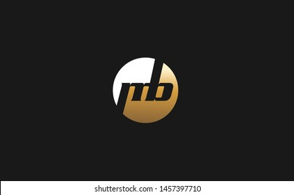 Creative mb initial logo design in gold and white color
