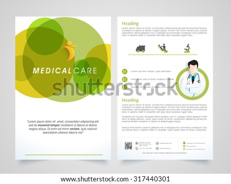 creative medical care brochure template flyer のベクター画像素材