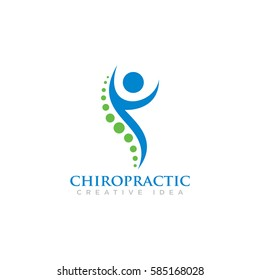 Creative Medical Chiropractic Concept Logo Design Template