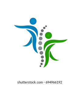 Creative Medical Chiropractic Concept Logo Design Template
