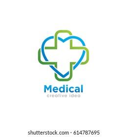 Creative Medical and Healthcare Concept Logo Design Template