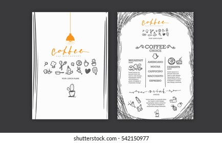 Creative menu design. Menu template and layout menu.Icons and symbol