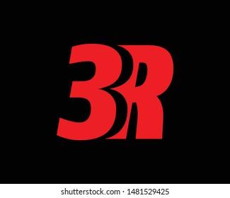 Creative Minimal 3R or R3 Logo Design | 3R R3 Logo Design