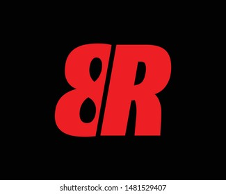 Creative Minimal 8R or R8 Logo Design | 8R R8 Logo Design