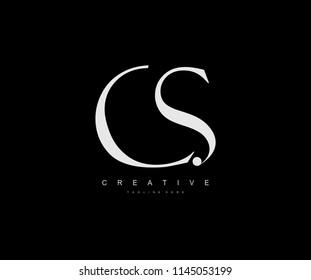 Creative Minimal Abstract Letter CS Luxury Premium Logo