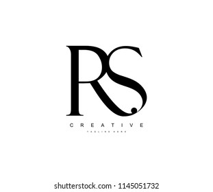 Creative Minimal Abstract Letter RS Luxury Premium Logo