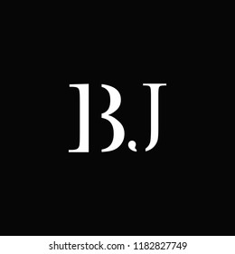 creative minimal BJ logo icon design in vector format with letter B J