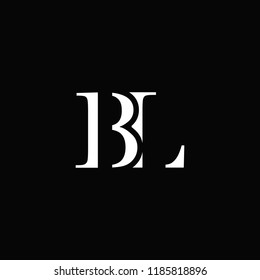 creative minimal BL logo icon design in vector format with letter B L