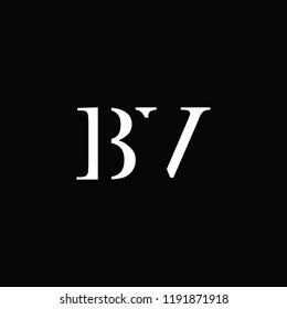 creative minimal BV logo icon design in vector format with letter B V