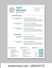 Creative Minimal Clean resume Template.