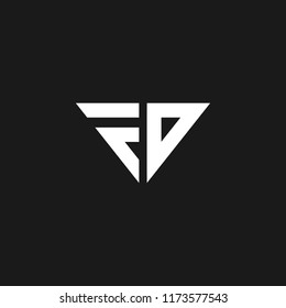 Creative and minimal design of initial letters F and D making it FD logo. Designed in vector format.