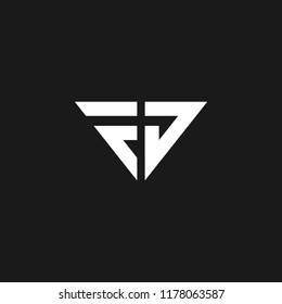 Creative and minimal design of initial letters F and J as Fj logo. luxury logo design.