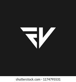 creative minimal FC logo icon luxury design with letter F V in vector format.