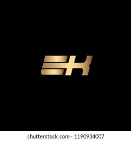 Creative and Minimal Initial Based EK Logo Using Letters E K