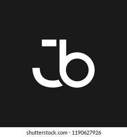 creative minimal JB logo icon design in vector format with letter J B