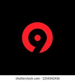 Creative Minimal Letter 9 Logo Design | Nine Logo Design